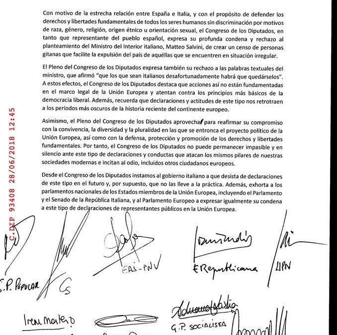 Las movilizaciones en distintas CCAA y la concentración ante la Embajada de Italia en Madrid.