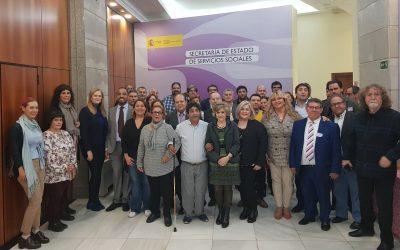 La nueva ministra de Sanidad, Comercio y Bienestar Social, María Luisa Cardedo, asiste al Pleno del Consejo Estatal del Pueblo Gitano (CEPG) celebrado hoy en Madrid