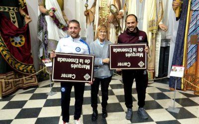Una placa de la retirada calle Marqués de la Ensenada de Lleida se expondrá en Madrid