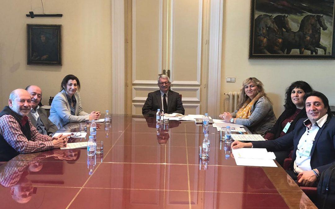 Reunión del Grupo de Educación del Consejo Estatal del Pueblo Gitano, con Alejandro Tiana, Secretario de Estado de Educación