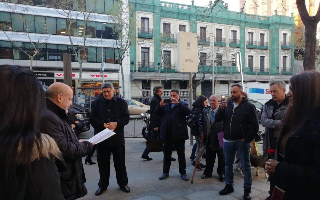 Concentración para pedir que se cambie el nombre de la Calle Marqués de la Ensenada de la ciudad de Madrid