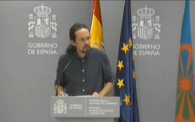 """Pablo Iglesias pide """"perdón"""" al pueblo gitano por el """"racismo institucional"""" hacia ellos en la historia de España"""