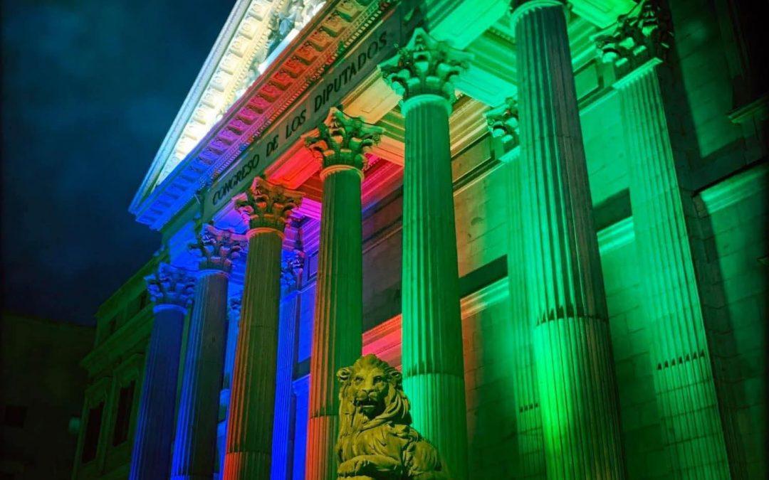 8 de Abril de 2021, cuando el Congreso de los Diputados se tiñó de los colores de la bandera gitana